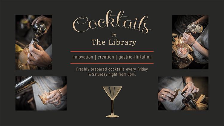Cocktail banner black